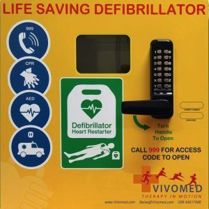 Heated AED Wall Cabinet
