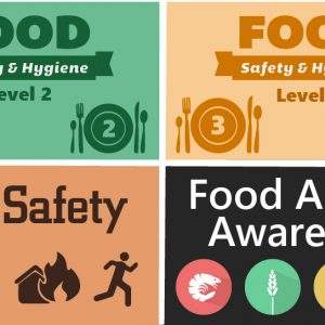 Level 2 3 food fire safety and food allergy bundle