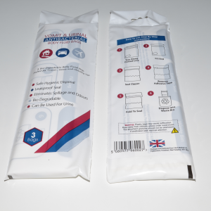 vomit urine bag x3